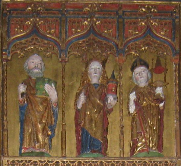 Detalj av altarskåpet