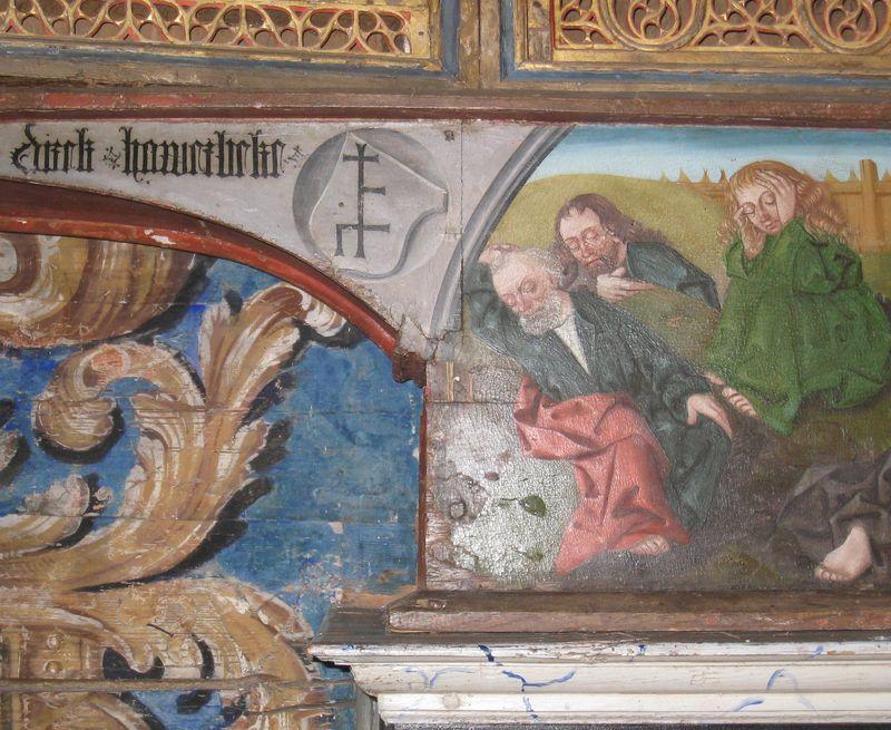 Detalj av predellan till altarskåpet